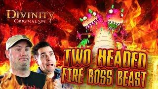 Divinity Original Sin: Two Headed Fire Boss Take 2 (part 47) Team Double Dragon