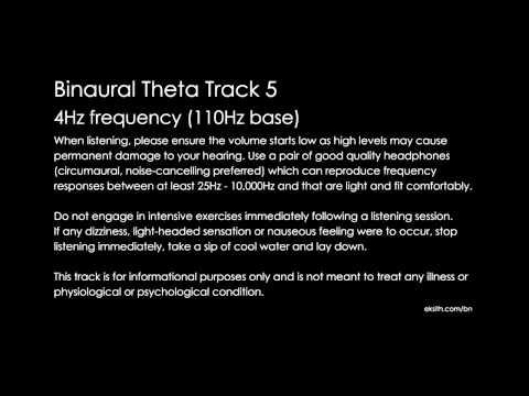 Binaural Theta Track 4 4Hz frequency (110Hz base)