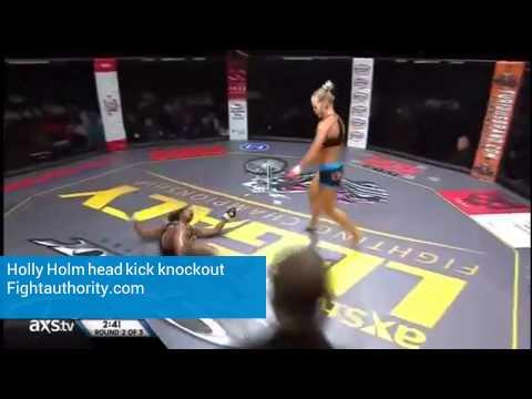 Holly Holm head kick knockout