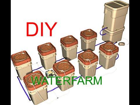 DIY (Waterfarm)Build a multiple bucket hydroponics system (Dutch bucket)