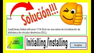 Load library failed with error 1114