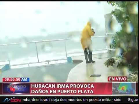 Huracán Irma provoca daños en Puerto Plata