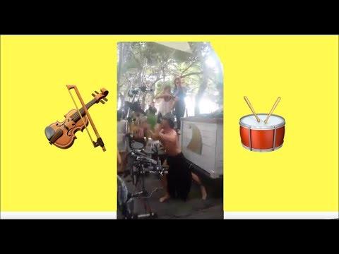 Elsa Electric Violin & Mr Hollywood in Auro Beach Bar with Dj Eridan
