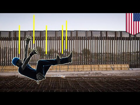 Trump border wall accident: Worker plunges 40-feet down hole at wall prototype site - TomoNews