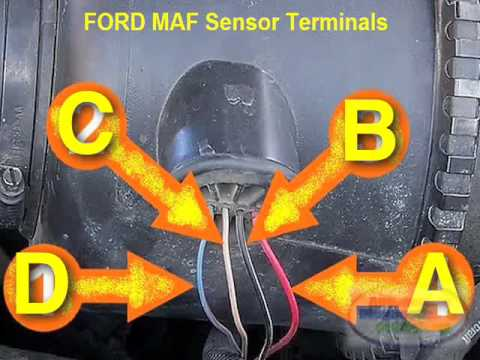 2008 ford f350 ignition wiring diagram 240v receptacle maf sensor testing 12v power youtube