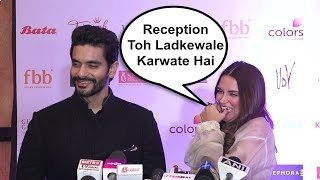 Neha Dhupia Takes A Dig Of Husband Angad Bedi When Asked About Wedding Reception