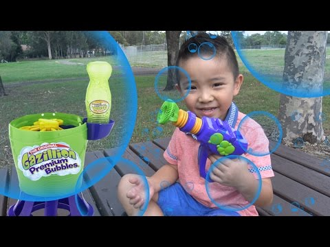 Gazillion Tornado Bubble Machine And Bubble Gun Kids Outdoor Playtime Fun Wih Ckn Toys