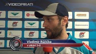 5. kolo TELH: Vladimír Růžička po výhře nad mistrem z Liberce