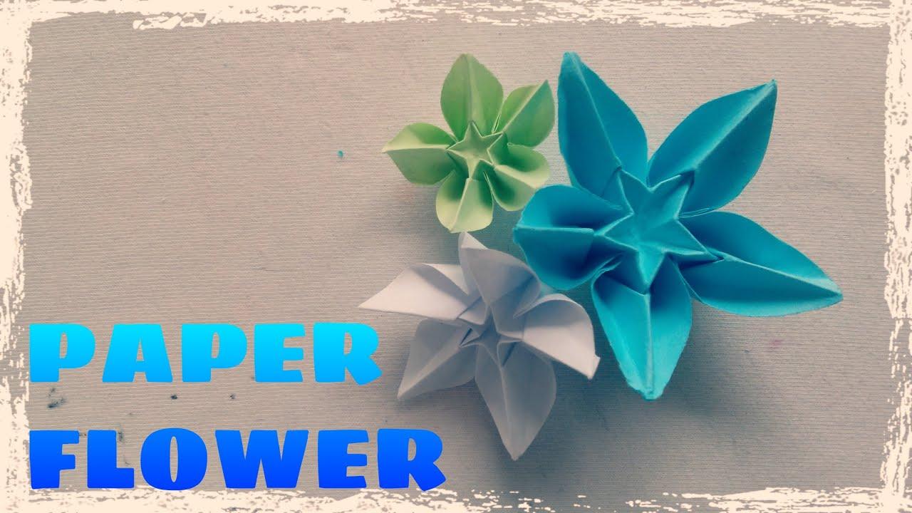 Origami Easy Origami Flower Tutorial Youtube
