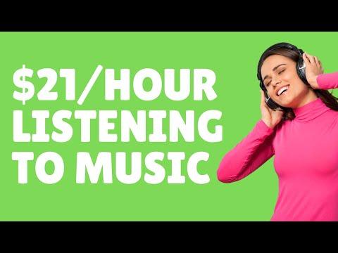 Make $21/Hour Listening to Music 2021 - Make Money Online