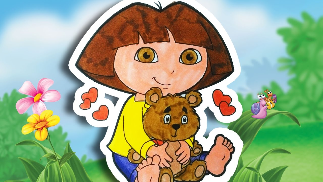 colouring dora and teddy dora the explorer coloring dora the