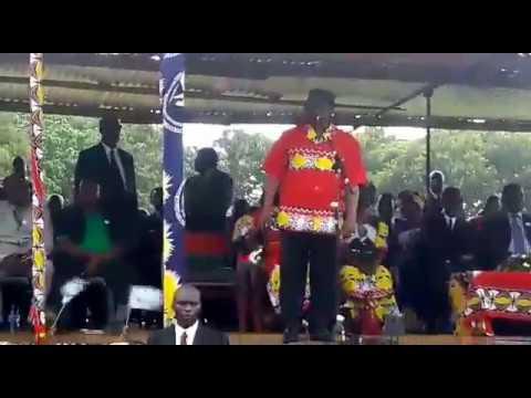MCP President Dr Lazarus Chakwera speaking in Salima