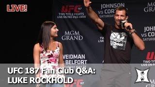 UFC 187 Fan Club Q&A With Luke Rockhold (LIVE / 2pm PT)
