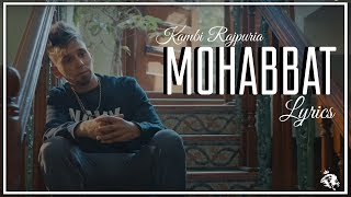 Mohabbat | Lyrics | Kambi | New Punjabi Song 2018 | Syco TM