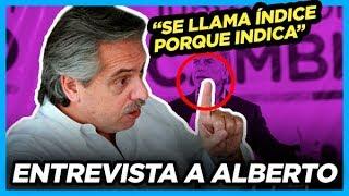 """Yo con mi dedo índice señalo la mentira"" Alberto Fernández"