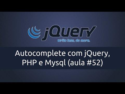 Autocomplete com jQuery, PHP e Mysql (aula #52)