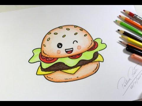 Como Desenhar Hamburguer Kawaii Passo A Passo Youtube