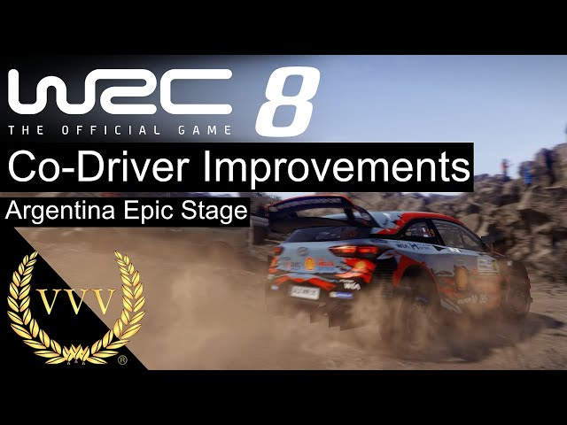 WRC 8 Co-Driver Improvements! Argentina Epic Stage