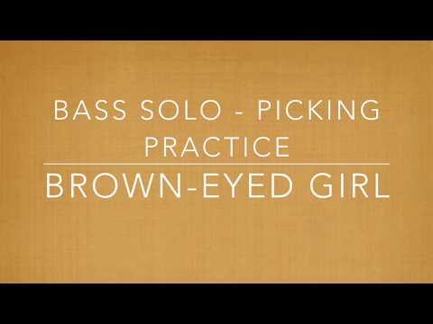 Brown Eyed Girl Bass Solo Picking Practice Ukulele Youtube