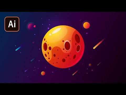 Рисуем планету в Adobe Illustrator. Уроки Adobe Illustrator