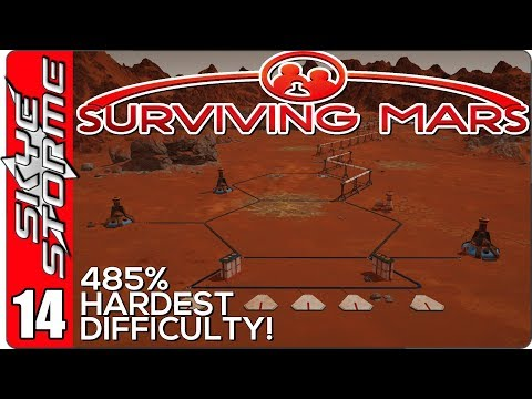 Surviving Mars Gameplay Ep 14 ►NO HUMANS ALLOWED! ROBOT MINING◀ 485% HARDEST DIFFICULTY PLAYTHROUGH