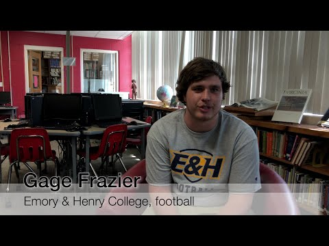 Holston High School's Gage Frazier on board at Emory & Henry