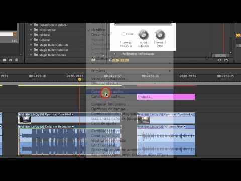 Premiere Adobe Editar Volumen Normalizar