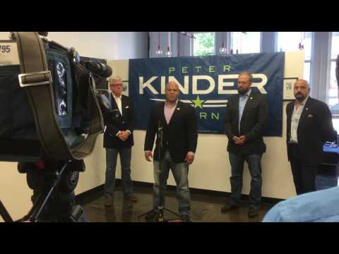 Stumping for Peter Kinder going after the Governor of Missouri