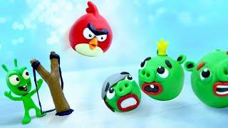 PEA PEA vs Angry Bird Battle - Stop Motion Funny Cartoons