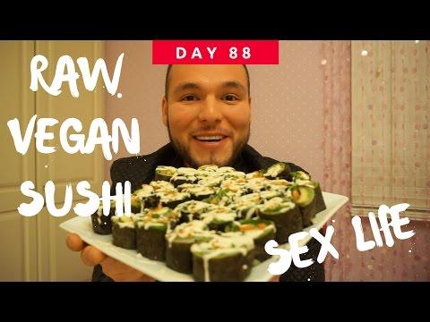 Day 88 - My sex life, RAW VEGAN SUSHI + New Year's Resolutions