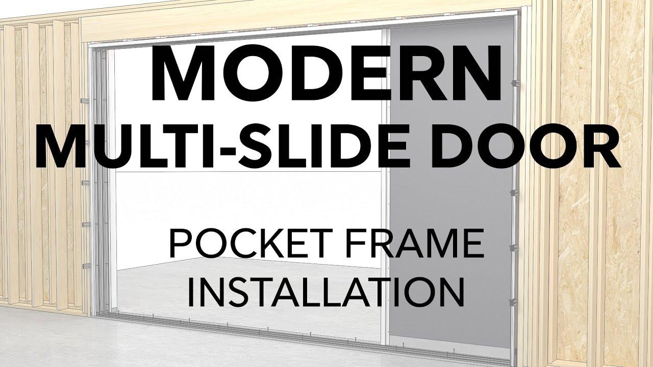 marvin modern multi slide door pocket frame installation