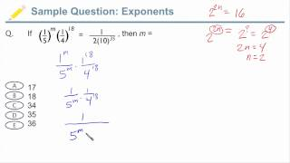 GMAT Exponents - Sample GMAT Question with Exponents