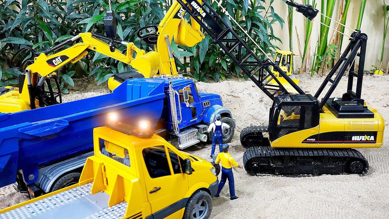 덤프트럭 구출놀이 포크레인 중장비 자동차 장난감 트럭놀이 Dump Truck Rescue Car Toy Play