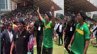 Brazilian Football Legend ► Ronaldinho 🤙 arrives in Ethiopia ⚽