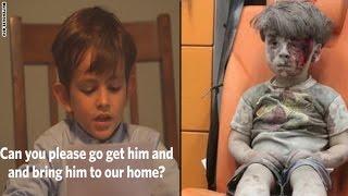 طفل أمريكي برسالة لأوباما: هل تذكر عمران السوري؟