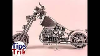 Ide Kreatif Membuat Motor Harley Dari Alat Alat Bengkel Seperti Baut dan Lain nya