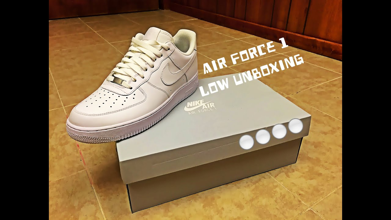 NIKE AIR FORCE 1 LOW UNBOXING! HD - YouTube ... 2832d9ab7