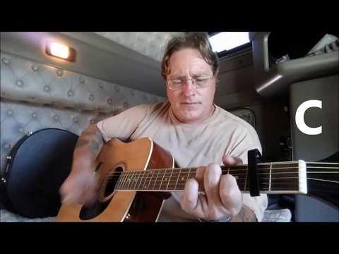 "(G4) Chords on Screen, ""Blue on Black"" by The Kenny Wayne Shepherd Band"