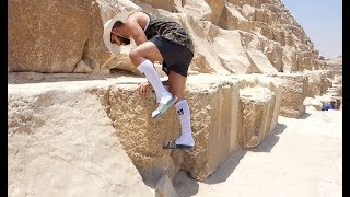 CLIMBING TO THE TOP OF A PYRAMID!!