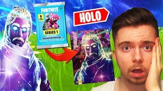 GALAXY SKIN PULLED! the RARE FORTNITE booster PACKS card!