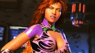 Injustice 2 - STARFIRE Gameplay & Super Coup