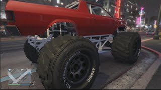 GTA 5 XB1 Marshall Monster Truck First Person First Drive/Mt Chiliad