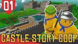CHEGOU A VEZ DO MULTIPLAYER! FT ARKANTOS - Castle Story COOP #01 [Série Gameplay Português PT-BR]