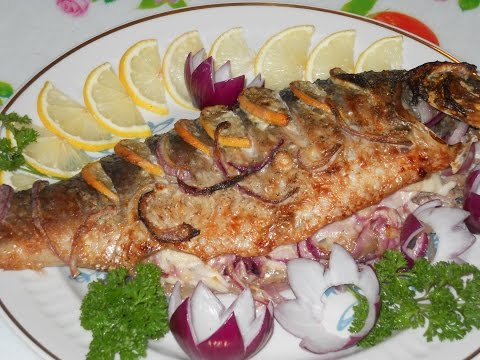 в духовке рецепт запеченной с рыбы карп фото