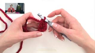 Repeat youtube video Crochet for Knitters - Double Crochet