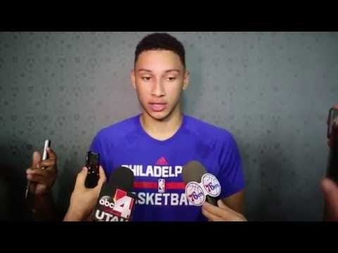 Ben Simmons first interview for the Philadelphia 76ers | NBA Summer League 2016
