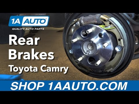 How to Replace Install Rear Drum Brakes 1998 Toyota Camry BUY QUALITY AUTO PARTS AT 1AAUTO.COM
