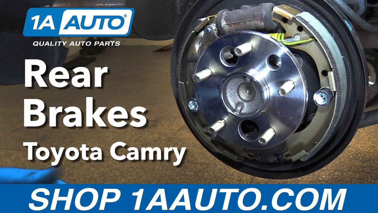 How To Replace Rear Drum Brakes 97 01 Toyota Camry