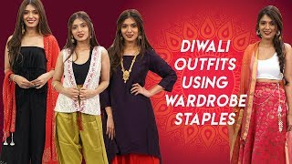 Diwali Outfits Using Wardrobe Staples - Hauterfly