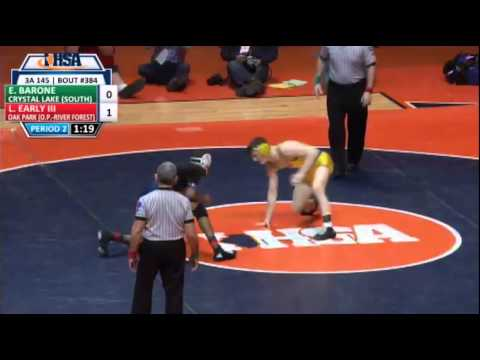 Larry Early (OPRF) Vs Eric Barone (CLS) 145 LBS IHSA State Tournament